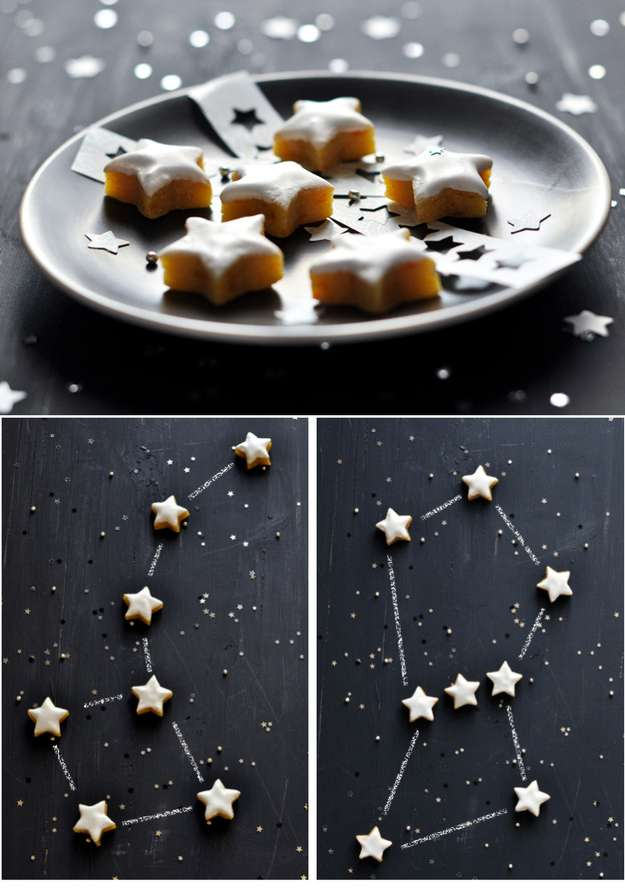 Make a constellation cookie tray