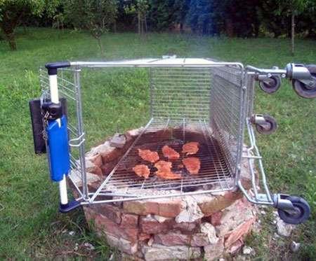 Shopping Cart BBQ Grill