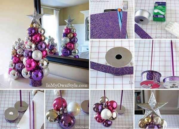 Tabletop Knitting Needle Ornament Tree