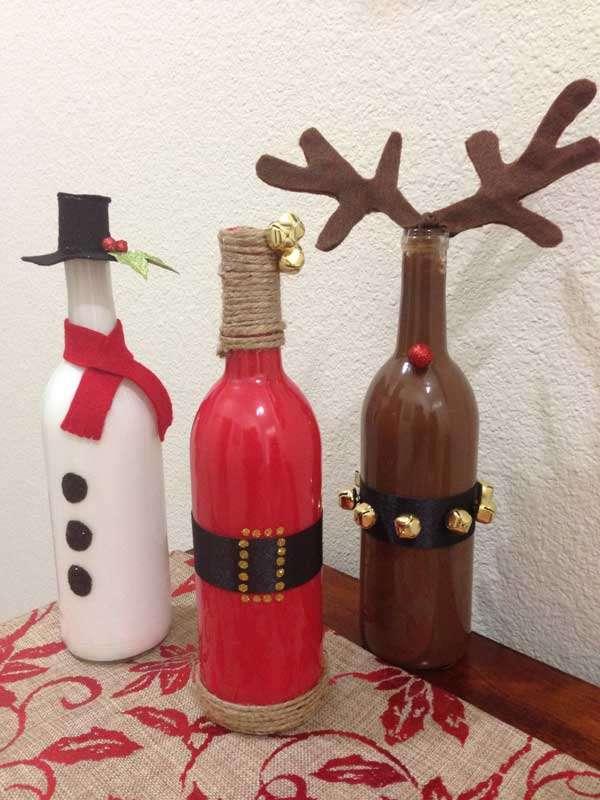 Wine Bottles Christmas Decoration