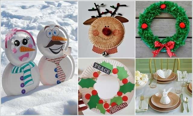 & 13 Awesome Paper Plate Christmas Decoration Craft Ideas