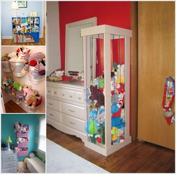 15 cute stuffed toy storage ideas for your kids 39 room for Organizers for kids rooms
