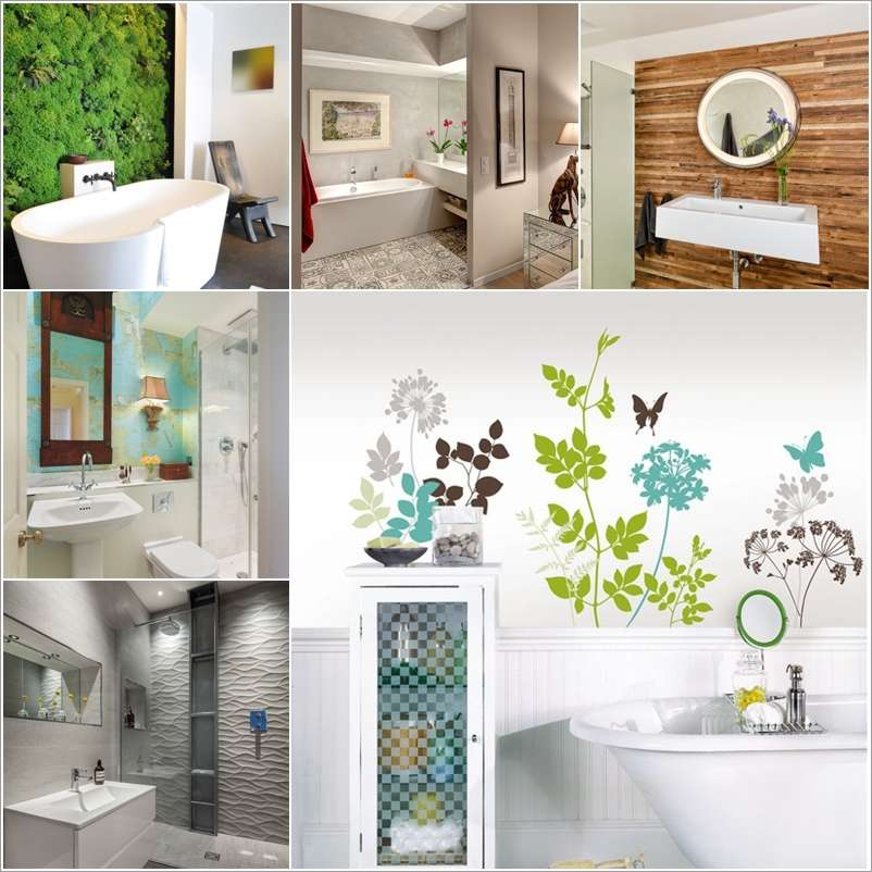 12 Amazing Ideas to Decorate Your Bathroom Wall