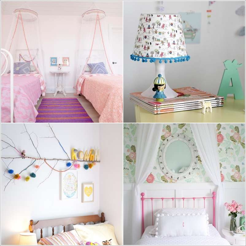 10 cute kids 39 room diy pom pom projects for Diy room decor ideas you never thought of