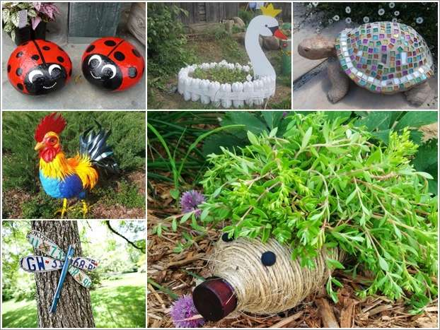 10 diy garden creature ideas made from recycled materials for Diy from recycled materials