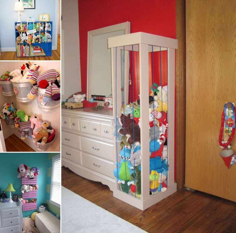 15 cute stuffed toy storage ideas for your kids 39 room for Kids room toy storage