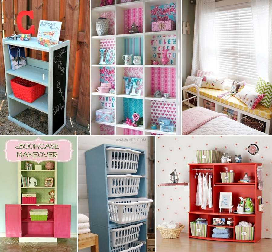 12 Amazingly Creative Bookcase Makeover Ideas
