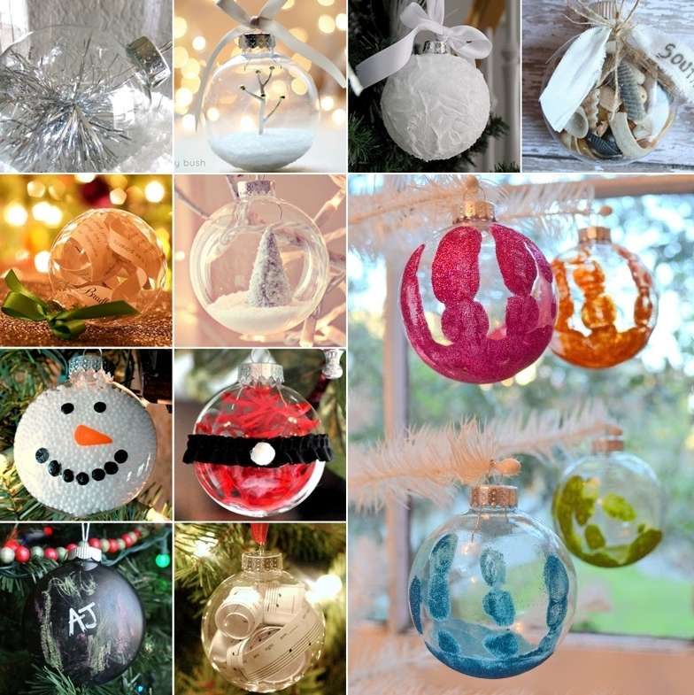 Clear Plastic Christmas Ornament Craft Ideas