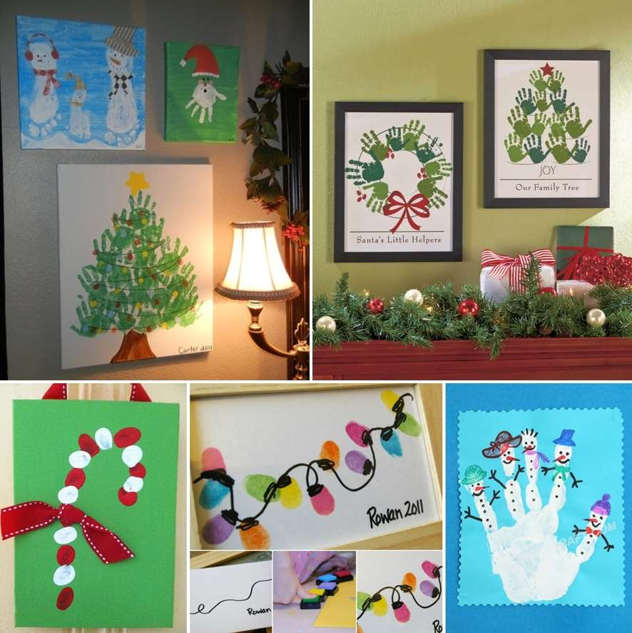 25 adorable christmas hand and foot art ideas for Hand and feet painting ideas