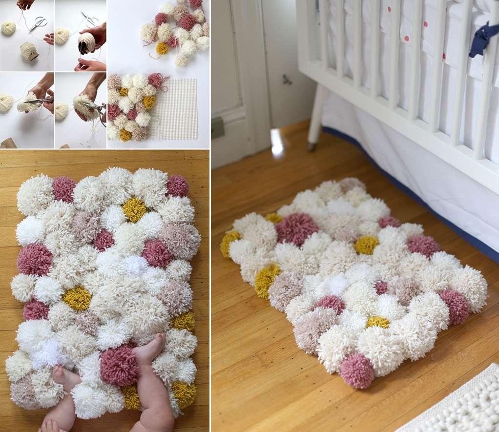 10 cute kids 39 room diy pom pom projects. Black Bedroom Furniture Sets. Home Design Ideas