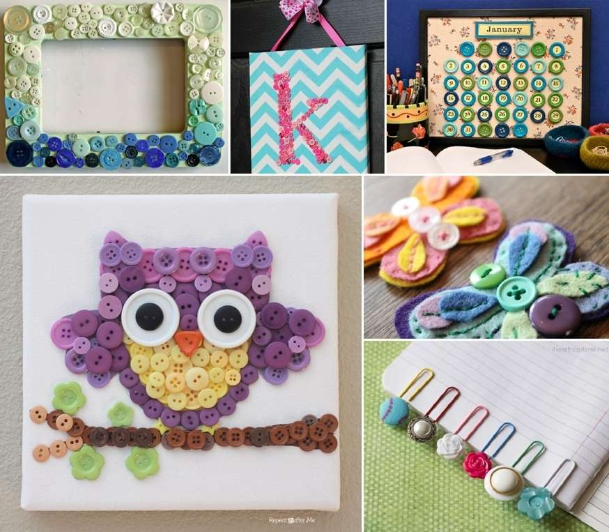 10 cute diy button projects for your kids for Cute room diy crafts