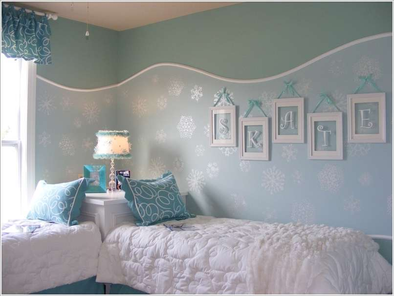 10 frozen movie inspired kids 39 room decor ideas - Winter bedroom decor ...