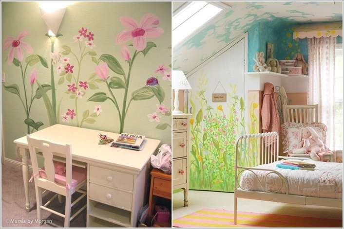 10  10 Cute Ideas to Add Garden Inspiration to Your Kids' Room 1021