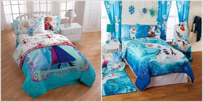 10 frozen movie inspired kids 39 room decor ideas for Cuartos para ninas frozen
