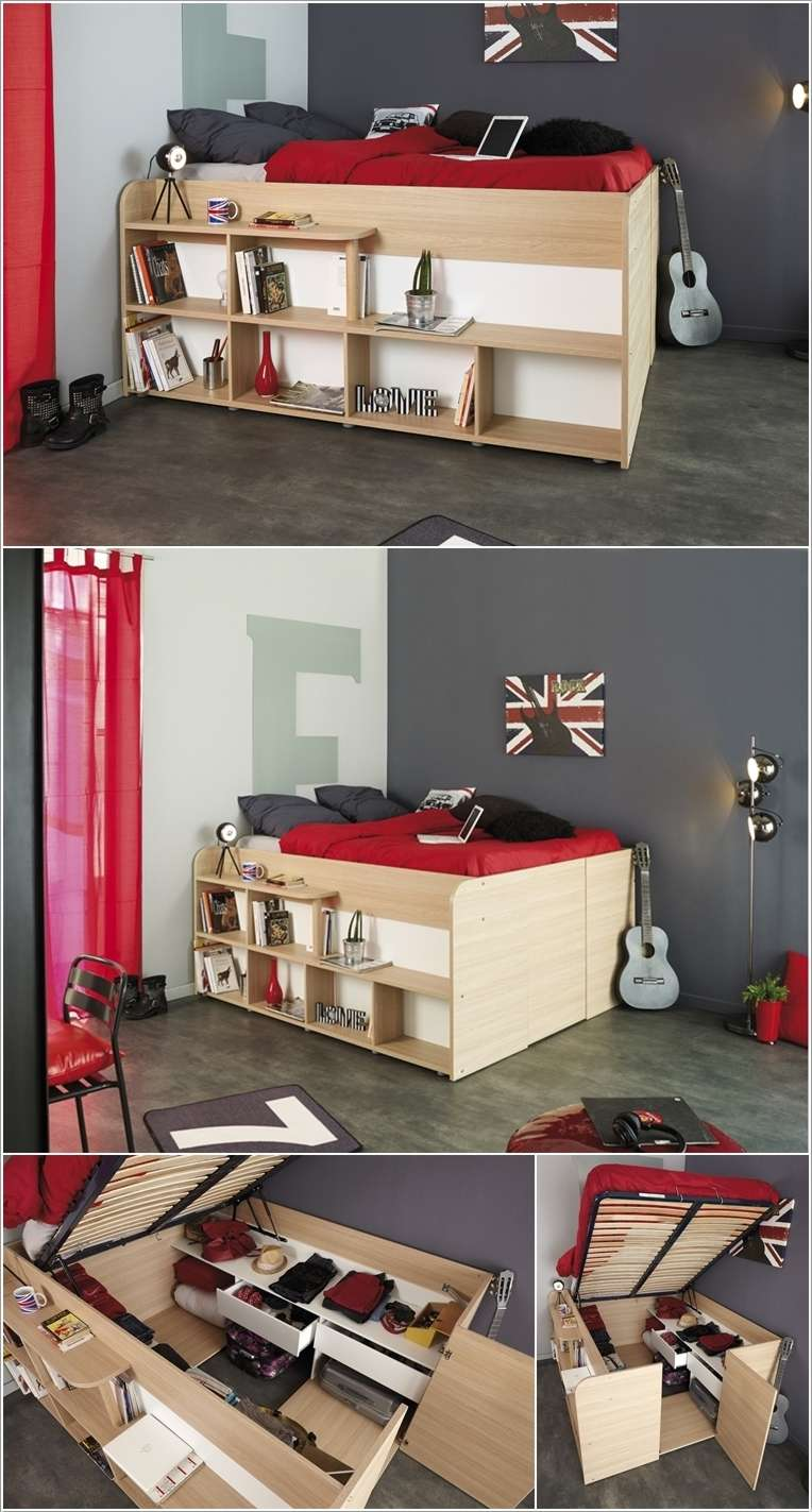 Clever ideas to use bedroom furniture for storage for Bedroom furniture storage ideas