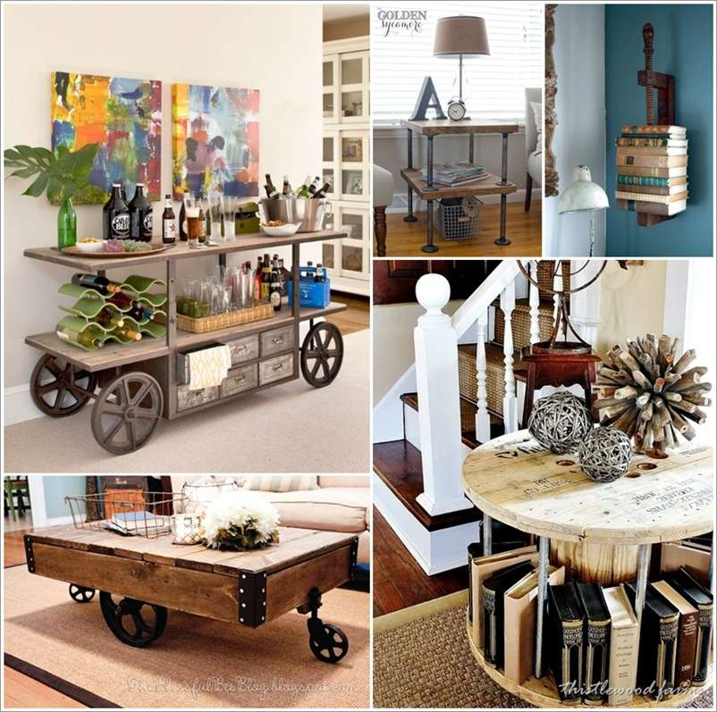 23 Cool DIY Industrial Furniture Designs