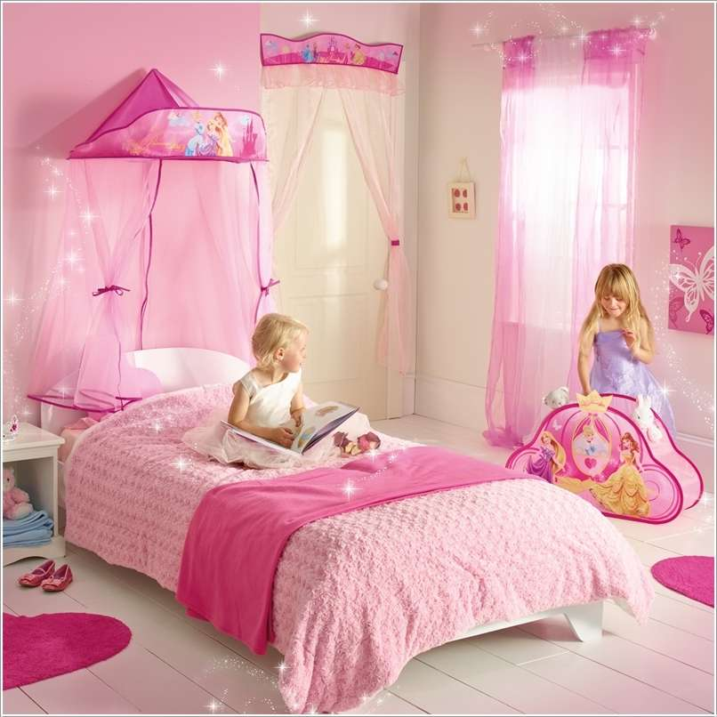 Toddler beds for girls princesses - 15 Lovely Disney Princesses Inspired Girls Room Decor Ideas