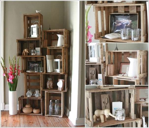 Fabulous 10 Ingenious Ideas to Organize with Old Wooden Crates PH37