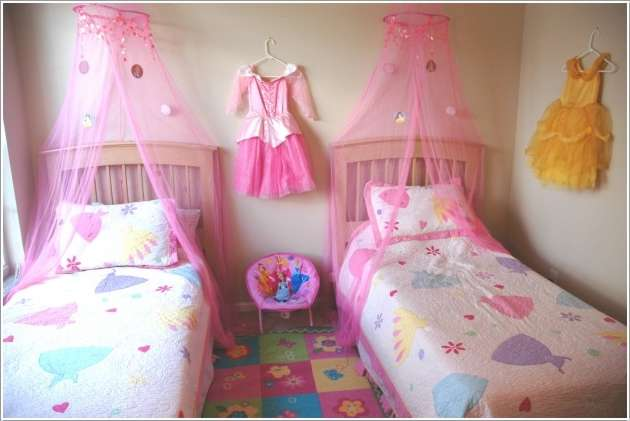 15 Lovely Disney Princesses Inspired Girls Room Decor Ideas