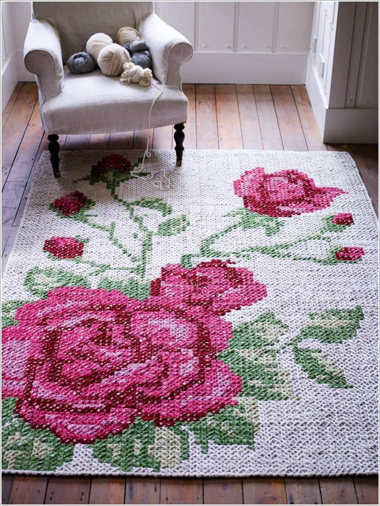 4  15 Cool Home Decor Ideas with Cross Stitch 4 1