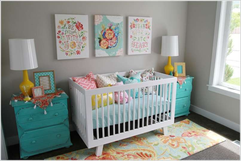 4  15 Adorable Ideas to Decorate Baby Nursery Walls 418