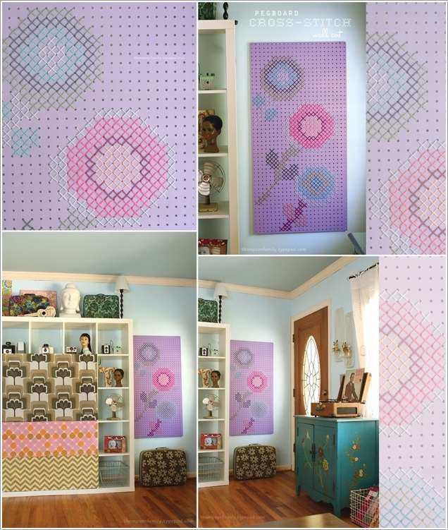 6  15 Cool Home Decor Ideas with Cross Stitch 628