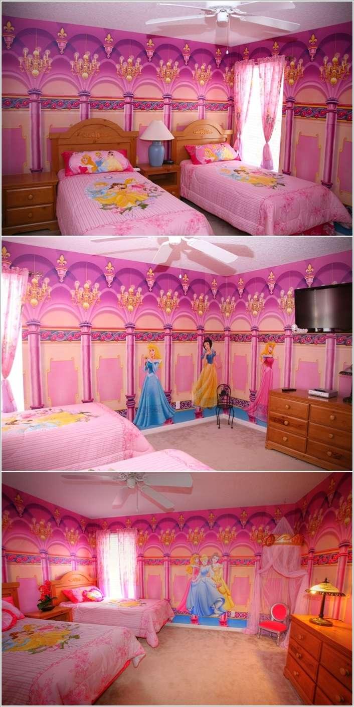 15 Lovely Disney Princesses Inspired Girls\' Room Decor Ideas ...