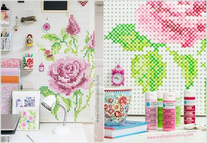 7  15 Cool Home Decor Ideas with Cross Stitch 728