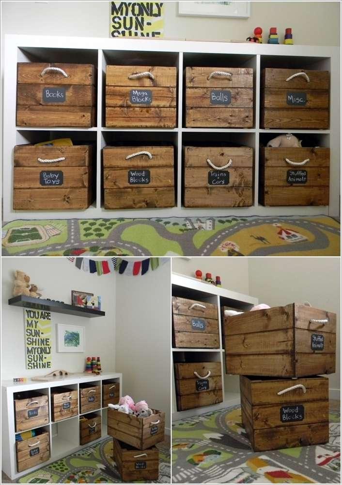 10 ingenious ideas to organize with old wooden crates - Rangement maison du monde ...
