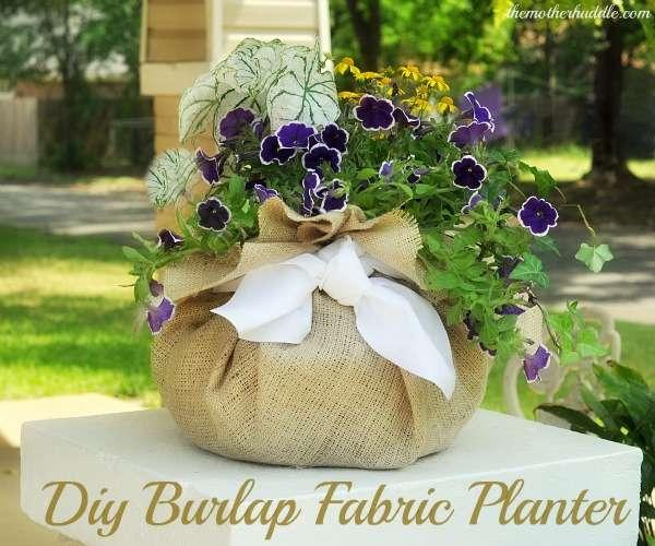 Burlap Fabric Planter