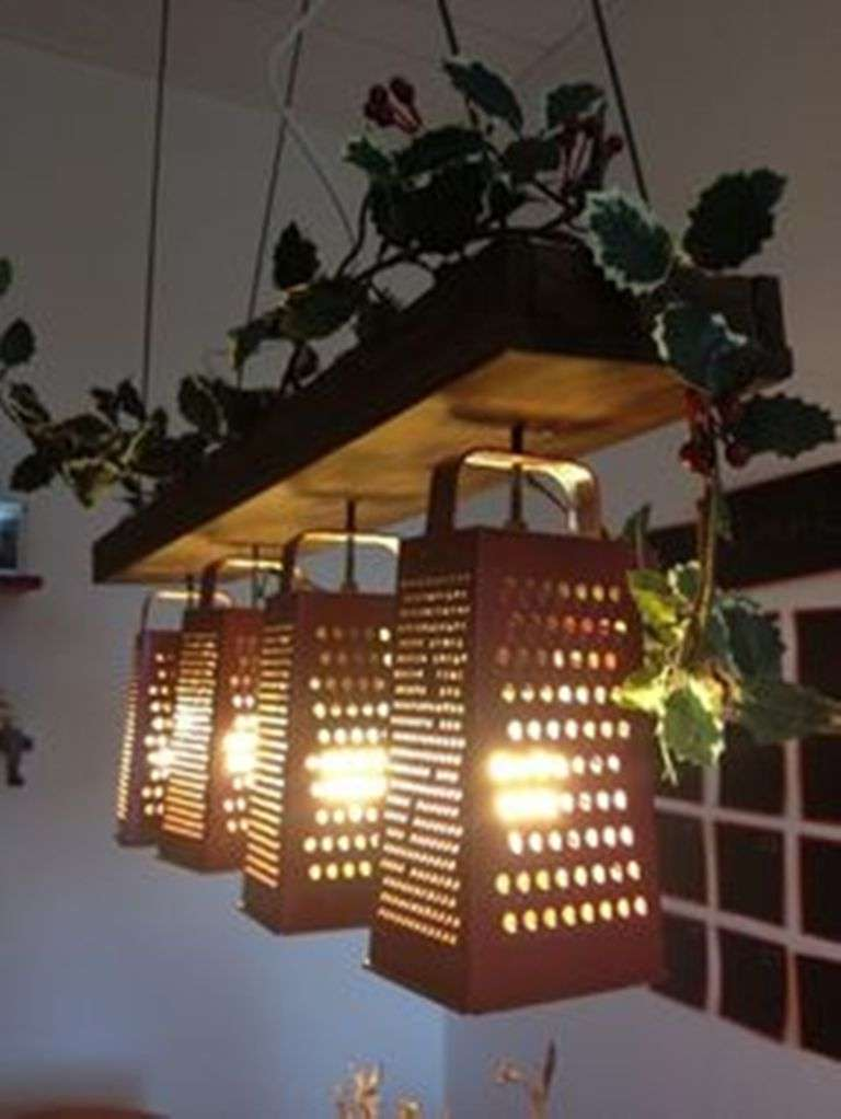 Old Graters as Celing Pendant
