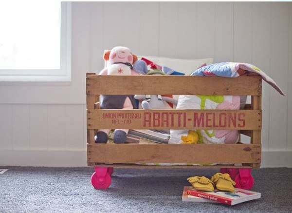 Old Pallet as Toy Storage