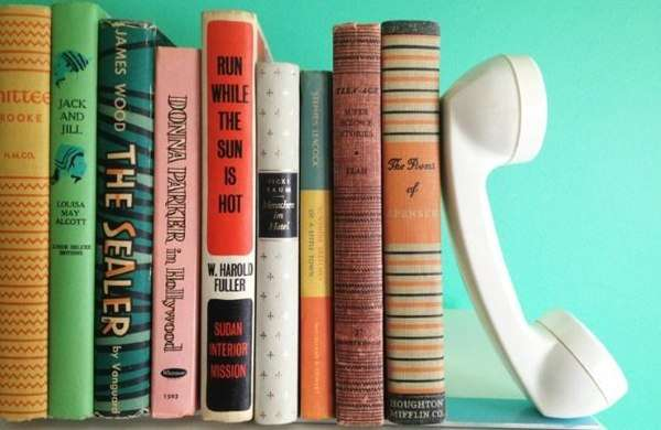 Old Telephone as Bookholder