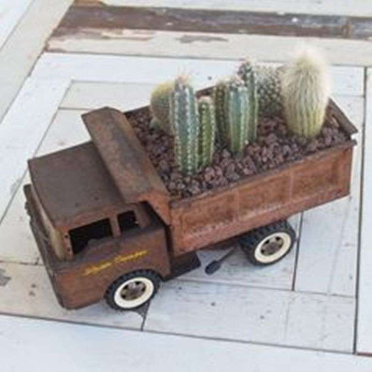 Old Toy as a Planter