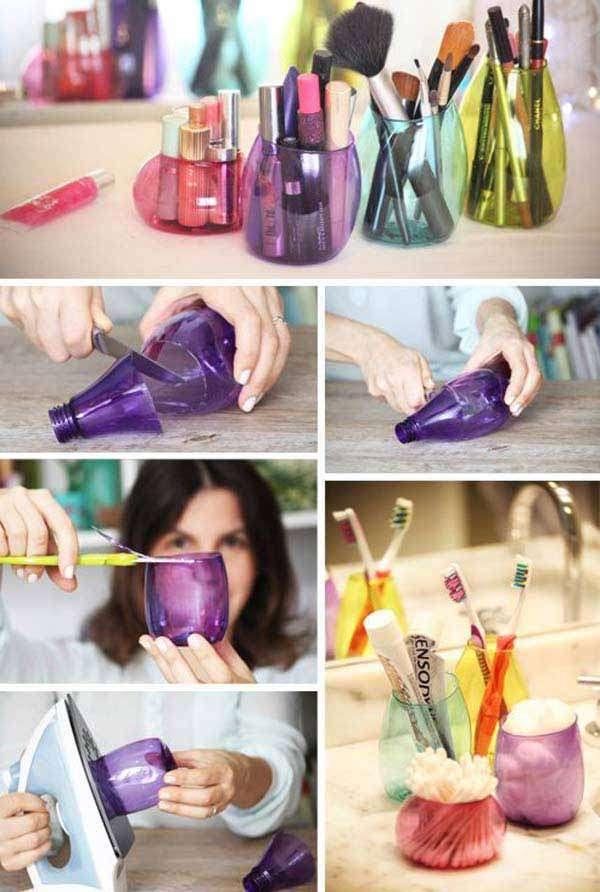 Plastic Bottle Storage Pot