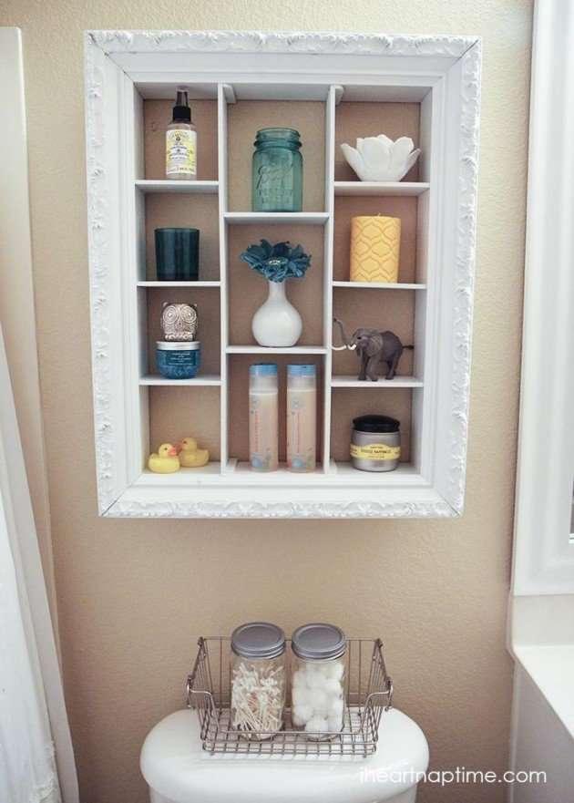 Recycled frame shelf