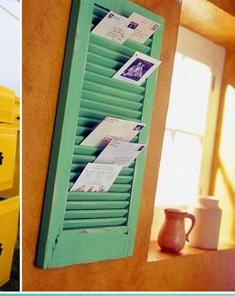 Window Drape as Mail Rack