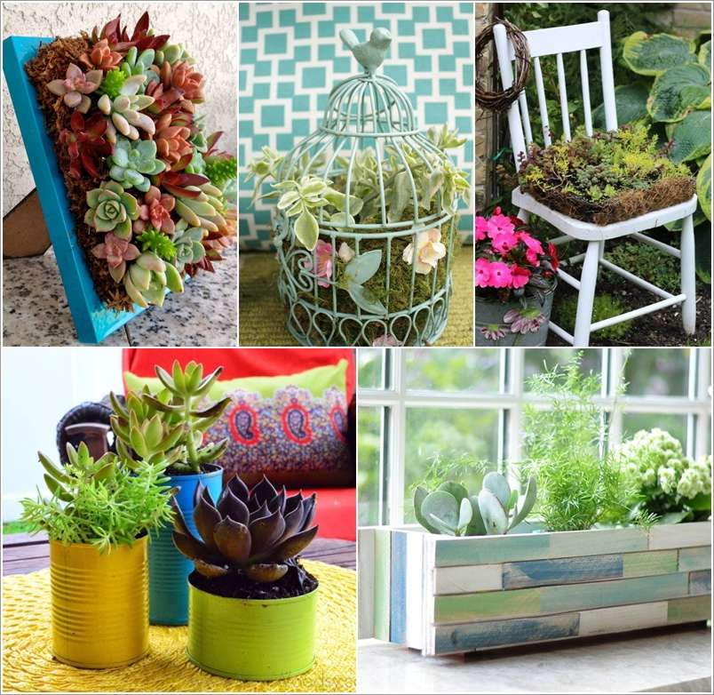 Succulents Garden Ideas pvc pipe succulents planter 15 Wonderful Succulent Garden Ideas For Your Home