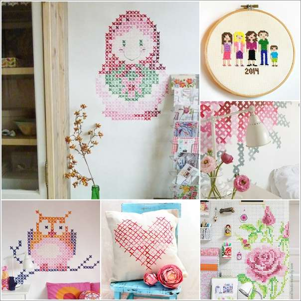 a  15 Cool Home Decor Ideas with Cross Stitch a29