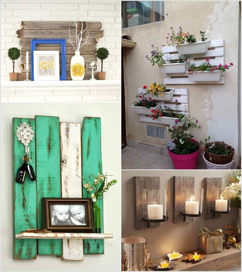 15 creative wall decor ideas with recycled pallets Creative wall hangings