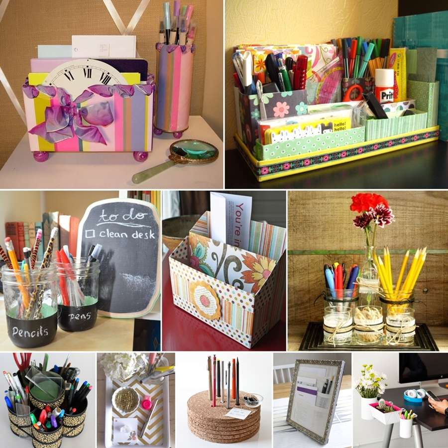 10 awesome diy desk organizers for your home - Make your own desk organizer ...
