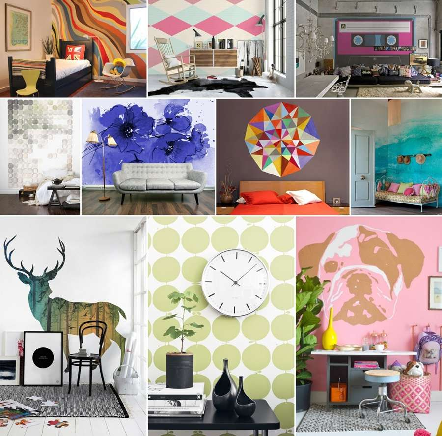 48 stunning wall murals that you can diy or purchase for Diy photo wall mural