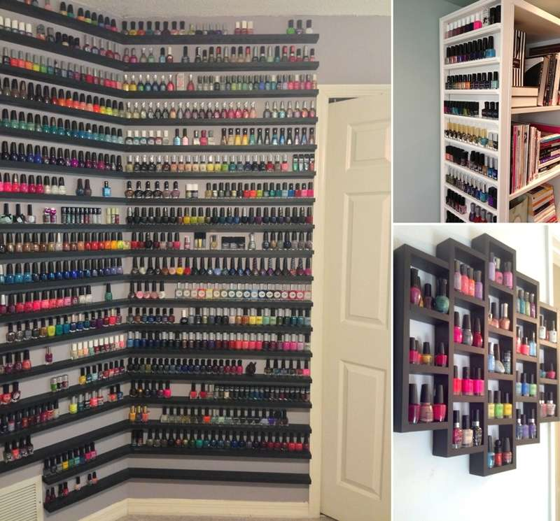 10 Cool And Clever Nail Polish Storage Ideas