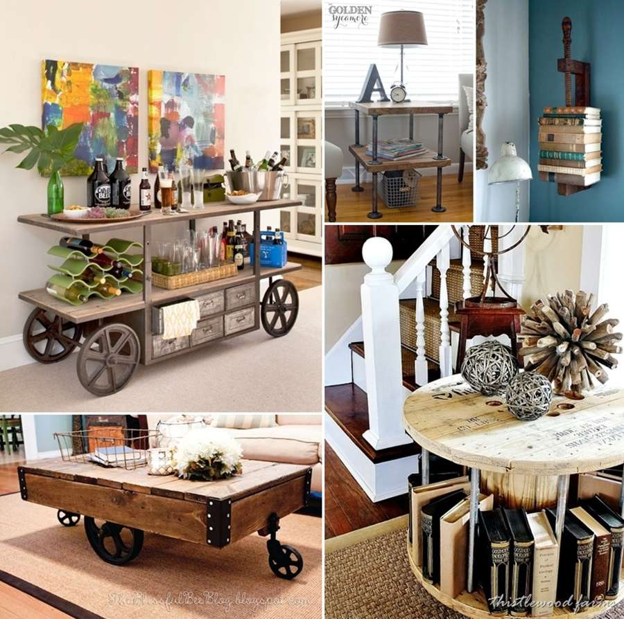 Amazing Interior Design Ideas For Home: 23 Cool DIY Industrial Furniture Designs