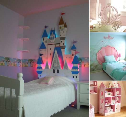 15 lovely disney princesses inspired girls 39 room decor ideas for Art decoration ideas for room
