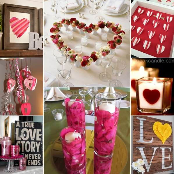 30 diy valentine 39 s day decoration ideas for your home for Valentine day at home