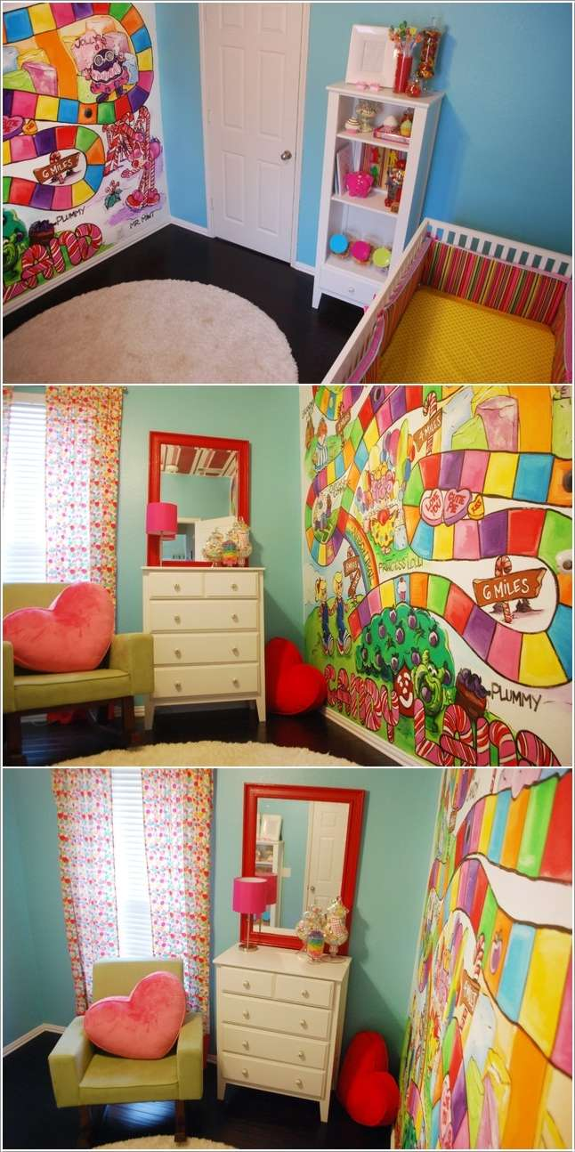 10 adventurous kids 39 bedroom ideas that are so cool for Candy bedroom ideas