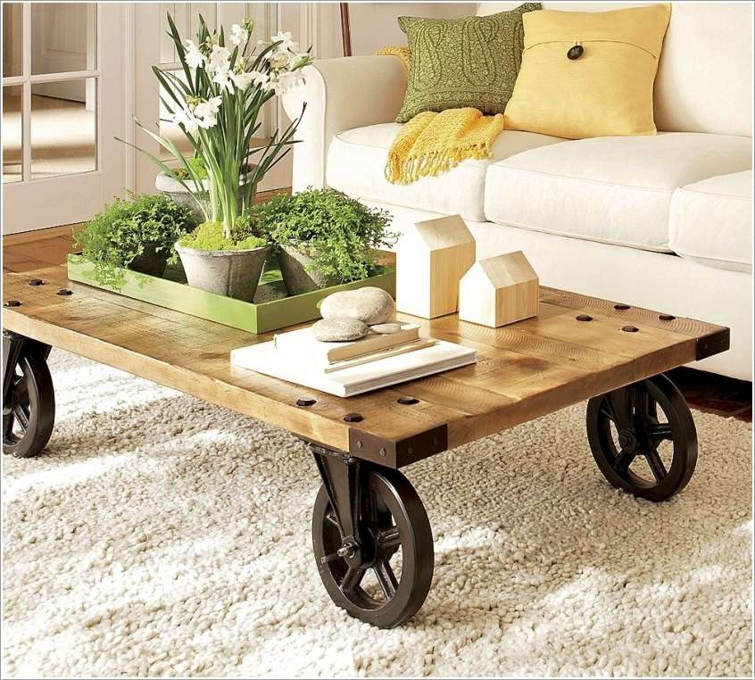 12  15 Awesome DIY Coffee Table Ideas for Your Living Room 122