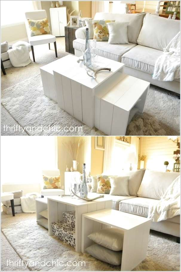 2  15 Awesome DIY Coffee Table Ideas for Your Living Room 23