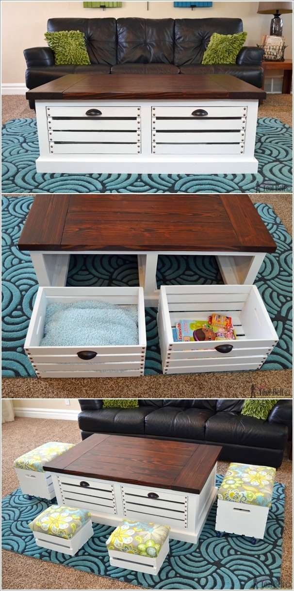 3  15 Awesome DIY Coffee Table Ideas for Your Living Room 33
